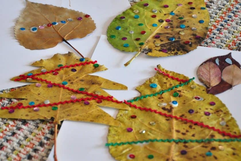 Christmas-leaf-craft