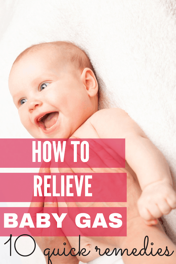 How to relieve baby gas