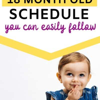 The easiest 18 month old schedule for your toddler