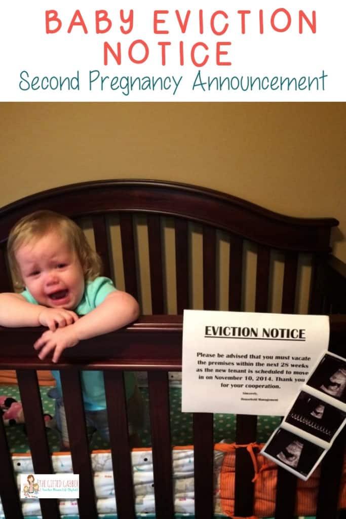 second pregnancy announcement