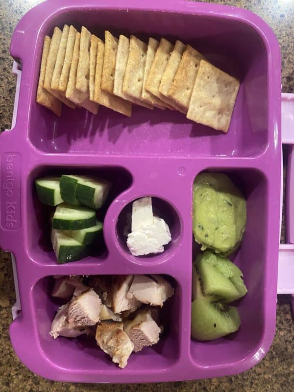 toddler daycare lunch idea